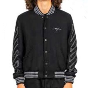 Off-white bomber jacket in wool